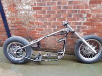 hinckley bonneville 865 chopper rolling chassis project