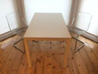 Small meeting table and two chairs (IKEA)