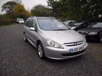 PEUGEOT 307 SW 2.0 HDi ESTATE--11 MONTHS MOT--93K MILES-GREAT HISTORY-PANORAMIC ROOF