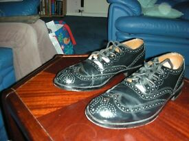 Highland dress brogues. Black. VG condition. Worn once. Size 10 1/2