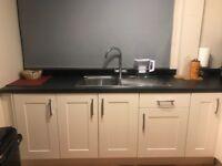 White kitchen with appliances