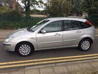 2003 FORD FOCUS GHIA 1.8 TDCI 115BHP,SILVER,5 DOORS, MANUAL,DIESEL,LEATHER INTERIOR &SEATS,HPI CLEAR