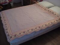 French boutis quilted bed throw blanket