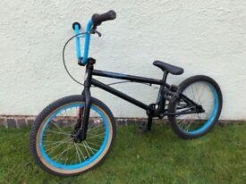 BMX Bike - ABD Player 2 - Matt Black and Blue