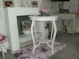 antique rose painted flower table
