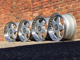Rial F1 deep dish alloy wheels, split rims 5x114 Nissan Toyota Lexus Mazda Honda