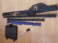 preston innovations rods and mega side tray for sale all together or can split including barbel rod