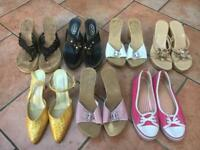 Various ladies shoes. Size 39 (Size 6)