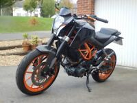 KTM DUKE 390, New MoT, New rear tyre, Serviced, 2 owners Enduro, Trials, Trail, Off Road, Sports