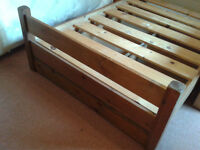 Warren Evans Hand Made, Large Single/Small Double Pine Bedframe