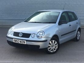 2004 VOLKSWAGEN POLO E, 1.2 ENGINE, 5 DOORS, LONG MOT & GREAT SERVICE HISTORY