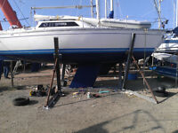 Yacht boat cradle