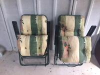 Two x Garden Chairs / Recliners