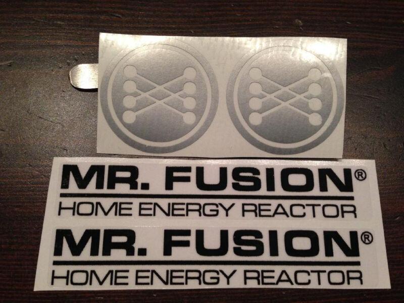 Mr Fusion Back to the Future sticker BTTF Zurück in die Zukunft Aufkleber prop