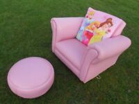 Little Princess Rocking Chair And Footstool
