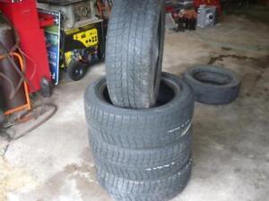 Four 225-55-17  snow tires $180.00