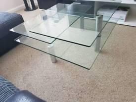 Dwell glass coffee table