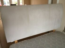 Double headboard - faux suede
