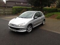 GREAT CONDITION 206 FOR SALE, 8 MONTHS MOT, FABULOUS RUNNER, GREAT MPG, RELUCTANT SALE