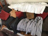"11 pieces school uniform: 5 John Lewis white shirts (8 yrs); 3 grey shirts (12.5""-13"") trousers (3)"