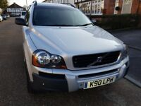 Volvo XC90 Silver with Gun Metal Grey Wheels and Low milage
