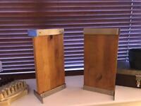 Ikea oak shelves