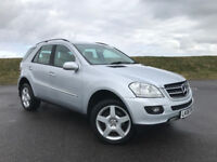 VERY HIGH SPEC MERCEDES ML 320 CDI FULL LEATHER AUTOMATIC FULL SERVICE HISTORY! HPI CLEAR!