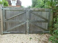 Solid wood garden double gate 1760 high x 3000 wide