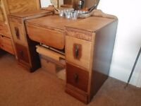 Art Deco Dressing Table with Mirror
