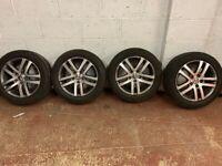 Volkswagen golf-Jetta-passat wheels and good tyres 205 -55-16 ready to fit