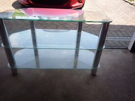 Glass Chrome TV Stand
