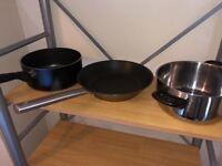 Giving away for free: 2 saucepan/ pots and 1 pan