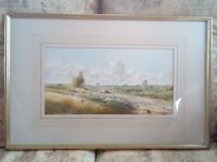 Watercolour, country scene by the late R.B. Higgins