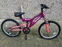 Girls full suspension bike 12in