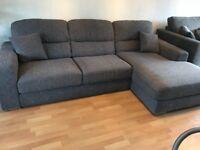 SOLD- Grey corner sofa