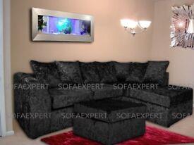 🔥💗BIGGEST PRICE DROPS ON GUMTREE💗🔥New Extra Padded Dylan Crush Velvet Corner or 3+2 Sofa