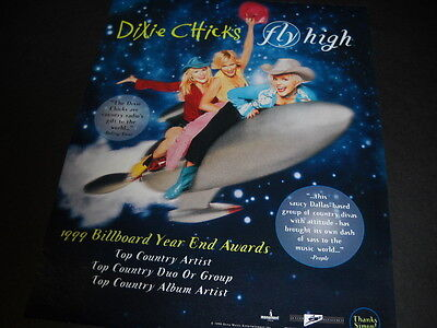 DIXIE CHICKS ...country radio gift to the world 1999 PROMO POSTER AD mint cond