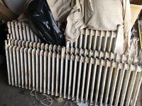 Radiators - solid cast iron - old school radiators with feet