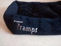 Black 'Tramps' Cushioned Cat Bed 58 cm