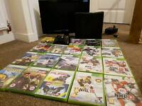 Xbox 360 4GB, Monitor and 20 games