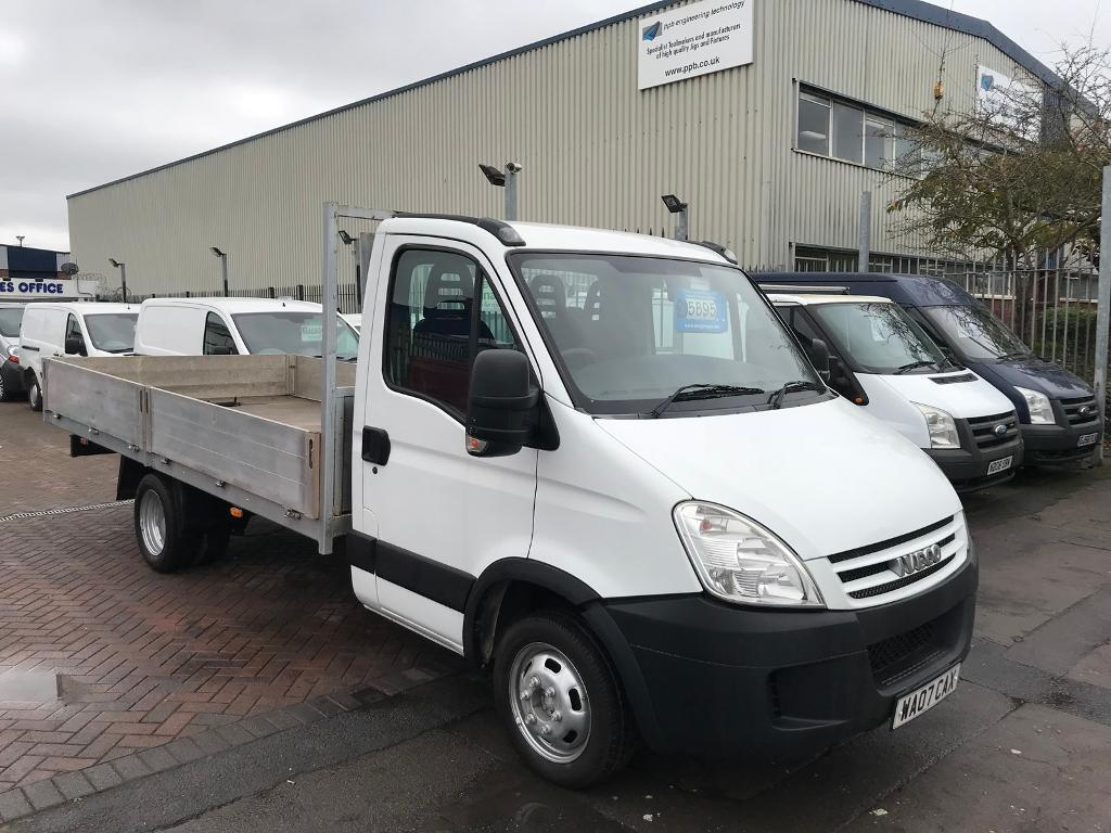2007 07 IVECO DAILY 2.3 35 C12 FLATBED WITH 14FT PRO TGS BUILT BODY LOW MILES SUPERB DRIVE