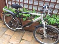 """Men's 21"""" front suspension bike bicycle inc new lights. D lock & delivery available"""
