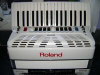 roland fr3s 120 bass v- accordion mint condition