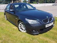 BMW 5 Series 3.0 525d M Sport ★LCI FACELIFT★ 200 Bhp Black diesel 520d 530d audi a6 s line tdi gt +