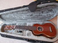 Ohana Soprano Ukulele SK35G Excellent condition including Stagg padded hard case