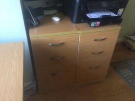 2 x Office chest of drawers.