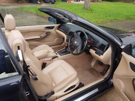 BMW CONVERTIBLE 03 81000M ONLY 1220£