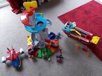 Paw patrol look out tower, sea boat and all vehicles