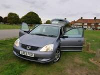 HONDA CIVIC AUTOMATIC 2004,1-OWNER,FULL SERVICE HISTORY WITH SUPERB EXCELLENT CONDITION