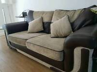 DFS sofa bed set leather